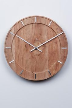 Pure Natural Wood Wall Clock