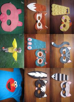 felt masks and tails