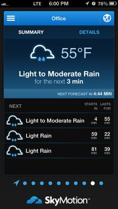 How to Use Skymotion and Know when It's Raining. The SkyMotion app accurately warns users of impending rain, hail, freezing rain, light and heavy snowfall. Freezing Rain, When It Rains, It's Raining, Being Used, Told You So