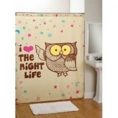 OWL~SHOWER CURTAIN.