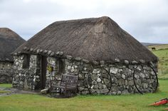 Skye Museum of Island Life stands on a hillside close to the tip of the Trotternish Penninsula. It is a remote location six miles along a single track road north of Uig. The museum consists of seven thatched cottages which highlight the island way of life in the 1800's