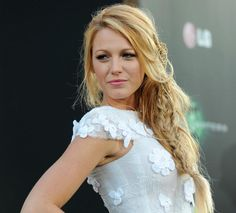 Blake Lively with a gorgeous mermaid braid hairstyle