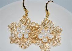Wire Jewelry Free Patterns | ... : crochet earrings , crocheted wire earrings , Crochet wire jewelry