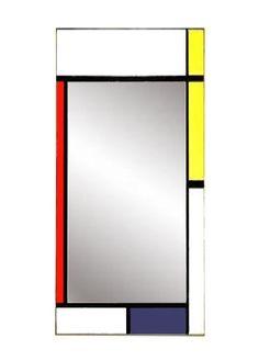 Piet Mondrian Gerrit Rietveld De Stijl painted wall mirror