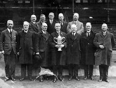 The directors of Airdrieonians Football Club stand proudly with the Scottish Cup at Ibrox Park, Glasgow. Take The High Road, Glasgow, Scotland, Football, Athletic, Park, Pictures, Club, Photographs