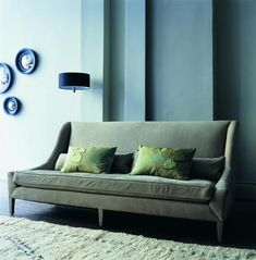 OCHRE Snooze Sofa, featuring traditionally upholstered beech frame with double cone springs.