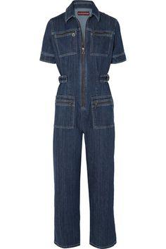 14dbd1cc967 ALEXACHUNG - Zip-embellished denim jumpsuit