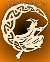 Scroll Saw Patterns :: Mythical :: Other mythical projects :: Celtic witch moon -