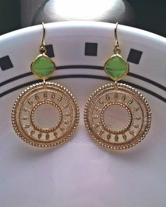 Gold+Plated+Moroccan+Pendants+with+Lime+Stones+by+PacificAndKey,+$23.00