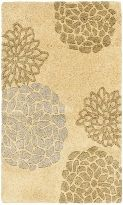 Soho 211B Contemporary Floral Design Transitional Area Rug (SOH211B) - Beige, Green, and Blue/Gray rug for nursery