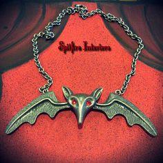 Lily Bat Necklace / Spitfire Interiors