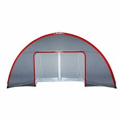 """NHL Street Hockey Goal Backstop, 13-by-6-Feet by Franklin. $38.78. Our Street Hockey Goal Backstop is designed to attach to an outer goal backstop to official size 72"""" and to a smaller size 54"""" Franklin steel street hockey goals. The backstop aids in containing stray shots for uninterrupted play. Great for single player target shooting or multi-player use. Designed for use with both street hockey balls and pucks."""