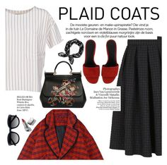 """Pattern Mix: Plaid Coats"" by italist ❤ liked on Polyvore featuring BELLEROSE, Dolce&Gabbana, Whiteley, Ace, rag & bone and Burberry"