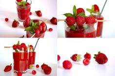 Strawberry and Raspberry Smoothies