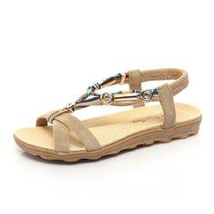 5a017f7bd3babf Flats Ankle-Strap Sandles Women Summer Sandals Flip Flop Sandles Flat Heel  Summer Shoes