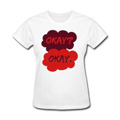 Geek Trendy Women T Shirts Ladies Okay Okay TFIOS The Fault In Our Stars Short Sleeve T-Shirt 100% Cotton Womens T-Shirts #Affiliate