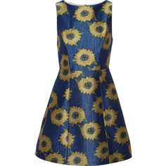 Alice + Olivia Epstein floral-jacquard mini dress (5.462.105 VND) ❤ liked on Polyvore featuring dresses, royal blue, blue floral dress, floral print dress, mini dress, alice+olivia dresses and floral mini dress