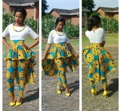 African/ethnic / circle  high waist women by AFROCOLLECTION2015