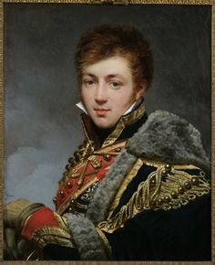 Count Honoré de La Riboisière, ca.1815, by Baron Antoine-Jean Gros (1771–1835) This expressive portrait of a young captain of the Imperial Guard was produced at the request of the sitter's mother. The officer's tender expression, impeccable uniform, & windswept hair convey a believable sense of youthful vigor & military valor. La Riboisière's father & younger brother, killed during France's invasion of Russia in 1812, had already been memorialized in a posthumous double portrait by Baron…