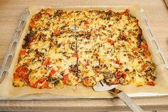 Die Schüttelpizza Low Carb fertig gebacken
