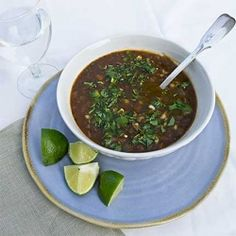 Chili Soup with Black Bean and Barley has deep, rich flavors because it includes so many different vegetables.