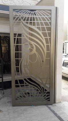 #saudiarabia #riyadh #doors #gates #design #cnc #lifestyle #modern #cadd #beautiful #metaldoor #lasercut #ابواب #idesigns Steel Gate Design, Main Gate Design, Door Gate Design, Door And Window Design, Window Grill Design, Metal Gates, Wrought Iron Gates, Gate Designs Modern, Modern Design