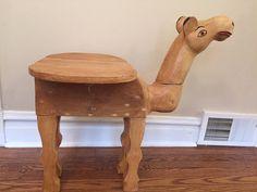 Vintage Handcrafted Camel Nightstand by SolDeLunaShop on Etsy