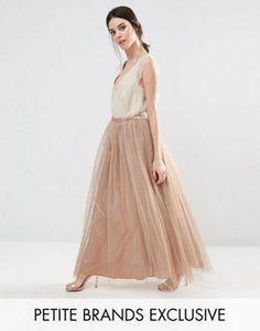 True Decadence Petite All Over Tulle Full Maxi Skirt