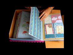 Álbum Cajita Scrapbooking Sky the limit Bellaluna Crafts Tienda Materiales de Scrapbooking - YouTube