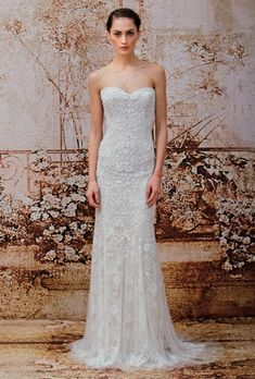 Monique Lhuillier Wedding Dresses - Fall 2014 - Bridal Runway Shows | Brides