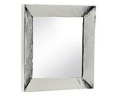 espejo de aluminio plateado 60x60 cm