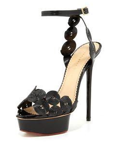 Candy Licorice Platform Sandal by Charlotte Olympia | 2014