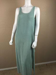 LONGITUDE Cover up Beach Mint Green Swim Suit Cover up mesh Large #Longitude #CoverUp