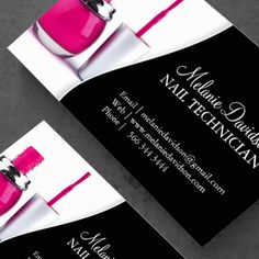 Mini Nail Tech Business Cards - Salon - Circular Cards - Design ...