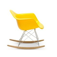 Mid Century inspired chairs from the top retailers operating in their respective fields brought together in one place for enthusiasts to consider. Eames Daw, Charles Eames, Rocking Chair, Mid-century Modern, Kids Room, Mid Century, Retro, Yellow