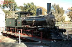 With restoration nearing completion C22 is temporarily shunted out of the roundhouse to allow final fitting work to be carried out, July 200...