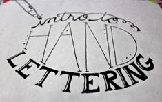 intro to hand lettering tutorial