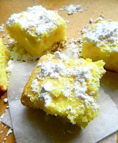 Two Ingredient Lemon Bars from Rachel Schultz #dessert #recipe