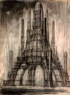 Architecture by Soviet Architect Yakov Chernikhov who made most of these drawings in the 1930s.
