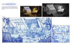 Layout, Prop Design: Pierre's Room
