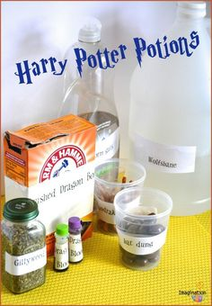 EASY & FUN Harry Potter Potions Class Experiments #harrypotter #DIY #birthdayparty