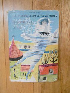 Vintage livre enfant histoire les merveilleuses aventures de monsieur le vent collection antique ancien lecture bibliotheque France hubert