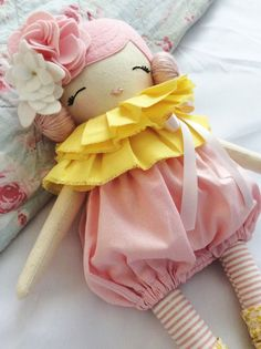 Little Miss Tippy Toe Cloth Doll