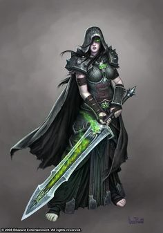 Strong, deadly, beautiful, and cold. Painted for marketing materials for World of Warcraft: Wrath of the Lich King Female Death Knight 3d Fantasy, Fantasy Warrior, Fantasy Artwork, Fantasy World, Dark Fantasy, Woman Warrior, Fantasy Monster, Medieval Fantasy, Final Fantasy