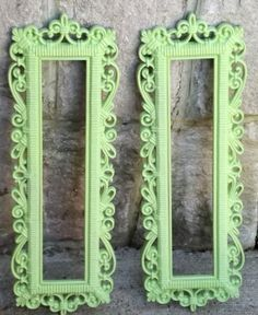 Set of Vintage Ornate Homco Upcycled Mirrors in by JuneBugCottage, $36.00