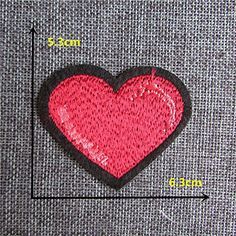 FairyTeller Fashion Good-Looking Red Heart Patch Hot Melt Adhesive Applique Embroidery Patch Diy Clothing Accessory Patch C436-C2076 ** Click image for more details.