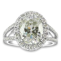 Large Oval Cut Diamond Engagement Ring