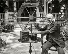"Dr. James Harris Rogers (1856-1929), inventor of the ""loop aerial"" and holder of numerous patents in telegraphy, telephony, and radio"