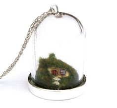 Loads of awesome miniature bell jar necklaces!