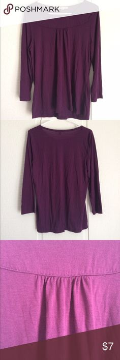 Deep Purple Too Super comfy lovely too. Very modest neckline. Cute gather in the front. Deep purple color. Carolyn Taylor Tops